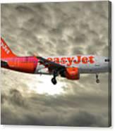 Easyjet Tartan Livery Airbus A319-111 Canvas Print