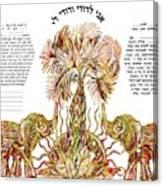 Elephants Ketubah- Reformed Humanistic Version Canvas Print