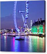Ferris Wheel At The Waterfront Canvas Print