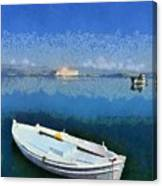 Fishing Boats In Nafplio Town Canvas Print