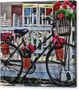 Flower Bike Collection Canvas Print