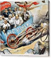 Free Silver Cartoon, 1896 Canvas Print