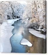 Fresh Snowfall Gauley River Canvas Print