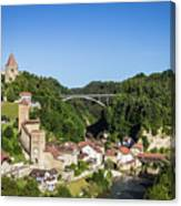 Fribourg Old Town In Switzerland Canvas Print