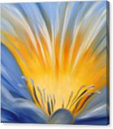 From The Heart Of A Flower Blue Canvas Print