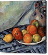 Fruit And A Jug On A Table Canvas Print
