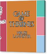 Game Of Thrones. Lannister. Canvas Print