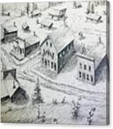 Garnet Ghost Town Montana Canvas Print
