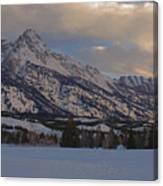 Grand Teton Winter Dawn Canvas Print