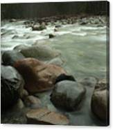 Granite And Water, Lynn Creek Canvas Print