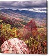 Graveyard Fields Overlook In The Smoky Mountains In North Caroli Canvas Print