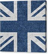 Great Britain Denim Flag Canvas Print