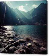 Green Water Mountain Lake Morskie Oko, Tatra Mountains, Poland Canvas Print