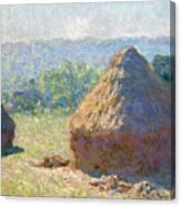 Haystacks, End Of Summer Canvas Print