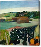 Haystacks In Brittany Canvas Print