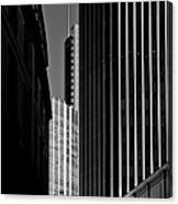 Heron Tower London Black And White Canvas Print