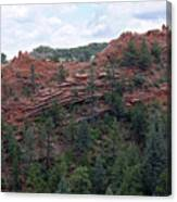 Hiking The Mesa Trail In Red Rocks Canyon Colorado Canvas Print