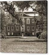 Historic Drayton Hall In Charleston South Carolina Canvas Print