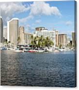 Honolulu Skyline Panorama Canvas Print