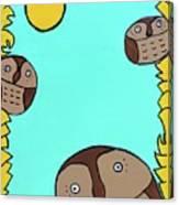 3 Hoots Canvas Print