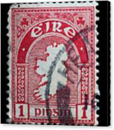 Irish Postage Stamp Canvas Print