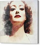 Joan Crawford, Vintage Actress Canvas Print