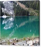 Joffre Lake Middle B.c Canada Canvas Print