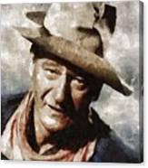 John Wayne Hollywood Actor Canvas Print