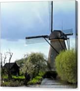 Kinderdijk Windmill Canvas Print