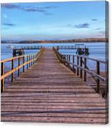 Lake Pier - England Canvas Print