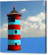 Lighthouse On The Sea Canvas Print
