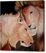 Lion's Love Canvas Print