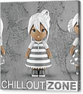 3 Little 3d Girls In Chilloutzone Canvas Print