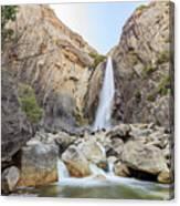 Lower Yosemite Fall In The Famous Yosemite Canvas Print