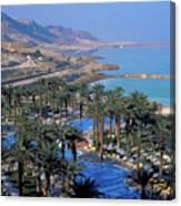 Luxury Resort On The Dead Sea Canvas Print