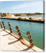 Main Canal - Trapani Salt Flats Canvas Print