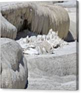 Mammoth Hot Springs Upper Terraces In Yellowstone National Park Canvas Print