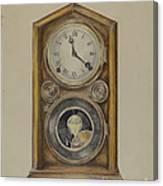 Mantel Clock Canvas Print