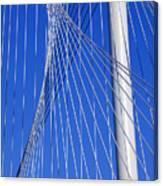 Margaret Hunt Hill Bridge In Dallas - Texas Canvas Print