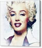 Marilyn Monroe, Actress And Model Canvas Print
