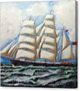 3 Master Tall Ship Canvas Print