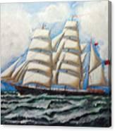 3 Master Tall Ship Canvas Print