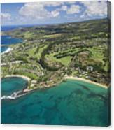 Maui Aerial Of Kapalua Canvas Print