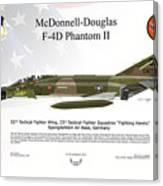 Mcdonnell Douglas F-4d Phantom II Canvas Print