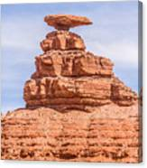 Mexican Hat Rock Monument Landscape On Sunny Day Canvas Print