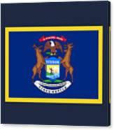 Michigan Flag Canvas Print