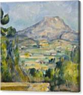 Montagne Saint-victoire Canvas Print
