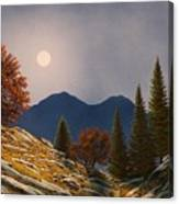 Mountain Moonrise Canvas Print