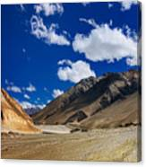 Mountains Of Ladakh Jammu And Kashmir India Canvas Print