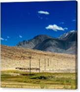Mountains Of Leh Ladakh Jammu And Kashmir India Canvas Print